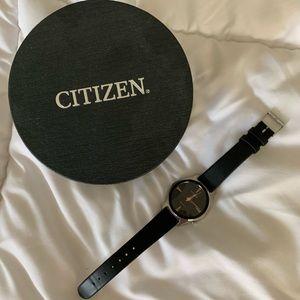 Women's Citizen Leather Strap Watch